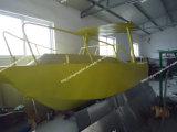 Красивейшая рыбацкая лодка алюминиевого сплава в большом море