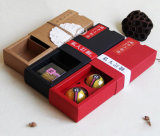 Fabrik-direktes Zubehör-Braunes Packpapier 2 Satz des Mooncake Kastens auf Lager, kundenspezifischen Mooncake Verpackungs-Kasten
