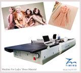 Tableau tissé de découpage de commande numérique par ordinateur de tissu, coupeur automatisé automatique d'habillement, machine de découpage de commande numérique par ordinateur