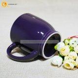 La sublimación de color violeta taza de café de cerámica con asa