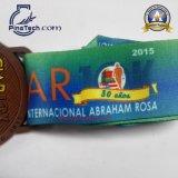 Medalla de la corrida de 10 maratones con final de bronce antiguo