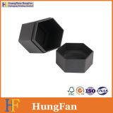 Коробка подарка черного хранения шестиугольника дух чая Artpaper косметического упаковывая
