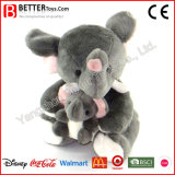 새로운 어머니와 아이 견면 벨벳 박제 동물 연약한 코끼리 장난감