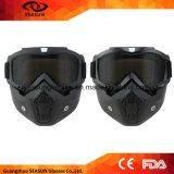 Изумлённые взгляды модульной маски изумлённых взглядов Motocross Moto женщин людей съемные и фильтр рта для модульного открытого шлема мотоцикла стороны
