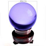 Bola transparente grande del vidrio cristalino del color del claro de la talla 200m m