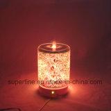 Difusor eléctrico ligero del petróleo esencial del LED con la cubierta de cristal 3D para la decoración casera