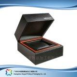 Caixa de empacotamento do indicador de madeira luxuoso do presente da jóia do relógio do cartão (xc-hbj-040)