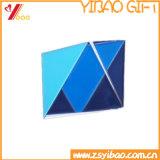 習慣5カラー亜鉛合金/鉄の背部ブローチPinのバッジの折りえりPin (YB-HD-47)の柔らかいエナメルの長方形のゴム