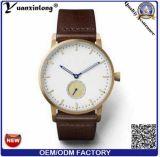 Yxl-016 2016 Pulseira de couro elegante, relogios de duas mãos e meia, Relógio casual casual de negócios