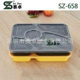 5 grau superior do compartimento engrossar comida de plástico descartáveis a bandeja