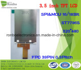 "3.5 ""320x480 MCU LCD 39pin de TFT, écran Option tactile"