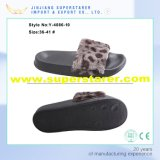 Wild Style Winter Fur Slipper, EVA Leopard Print Women Slipper