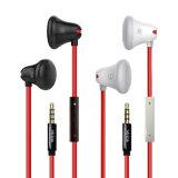 Auricular blanco / negro del auricular popular atado con alambre auricular móvil estéreo