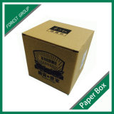 Papel Kraft marrón Tuck arriba Caja de cartón ondulado con impreso personalizado