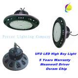 Niedrigster Preis über Stadt 100With150With200With250W industriellem hohem Bucht-Licht UFO-LED mit 5 Jahren Garantie-