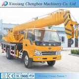 Camion mobile di fabbricazione dell'asta idraulica dorata della gru con la gru 10 tonnellate da vendere