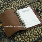 Dépliant de fichier en cuir mou neuf de portefeuille de cahier de boucle de modèle