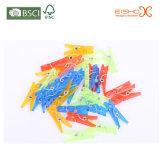 De in het groot Kleurrijke Plastic Paperclippen van de Foto van Kleren