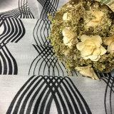 Diseño del telar jacquar de la tela suave de la cortina de ventana de la materia textil