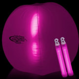 Promoción de color rosado inflable pelota de playa con LED de Bang Dentro de la Parte
