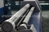 Máquina de dobra da placa de quatro rolos, máquina de rolamento hidráulica modelo grande da placa do projeto novo