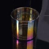 Vidro de galvanização do suporte de vela com cores brilhantes