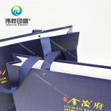 Bolso de papel del regalo de la impresión de la promoción con el sellado caliente de la insignia
