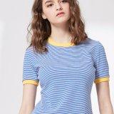 Mesdames fashion Loisirs Stripe T-Shirt preppy