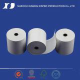 Papel termal popular para el papel termal impreso resbalón Rolls de la atmósfera de Rolls del papel termal de la atmósfera de la máquina de fax