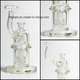 Matrice de 7mm Épaisseur Mobius Perc Glass Pipe à eau de fumer