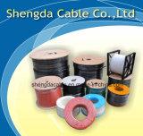 Rg59 Tri-Shield Black com um cabo coaxial de linha verde para CATV