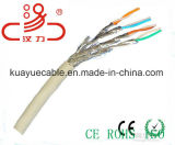 Câble d'acoustique de connecteur de câble de transmission de câble de caractéristiques de câble du câble LAN Stpcat7/Computer