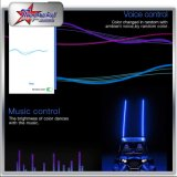 Fruste di RGB LED da Bluetooth Control 4FT 5FT 6FT 8FT per la jeep del Buggy UTV ATV