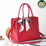 Comercio al por mayor de bolsos de cuero auténtico estilo Vintage Lady Tote Shoudler bolsas con pañuelos de Seda para las mujeres el GGA4947