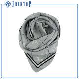La main a roulé l'écharpe Chiffon de Tartan d'OEM de polyester personnalisée par bord