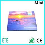 Поздравительная открытка LCD 4.3 дюймов видео-/карточка приглашения