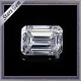 1.5 캐럿 7.5X5.5mm 경이로운 에메랄드 커트 F 색깔 백색 Moissanite 돌