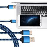 USB3.1 Tipo-c novo cabo cobrando rápido do carregador dos dados com nylon