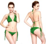 Los volantes dos piezas de mano Sexy Crochet Bikini lencería trajes de baño Trajes de Baño