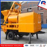 Concrete Pomp van de Aanhangwagen van de Concrete Mixer van de Schacht van de Componenten van Schneider van de Motor van Simens van de Vervaardiging van Pully de Elektrische Tweeling (jbt40-l)