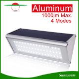 2016 neues 48 LED helles im Freien Mikrowellen-Radar-Fühler-wasserdichtes energiesparendes Wand-Solarlicht, Solarlichter für Garten-Dekoration