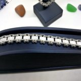 Белый оптовый браслет Wristband вахты нержавеющей стали для девушки