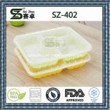 4habitáculo comida de plástico descartáveis Lunch Box