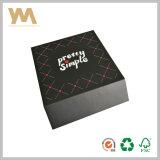 Коробка черного подарка конструкции Flip творческого бумажная с магнитом