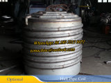 2000L acero inoxidable tanque de mezcla con el medio tubo de la bobina chaquetas