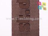 La tessitura di nylon falsa del jacquard del nero 38mm può essere marchio su ordinazione