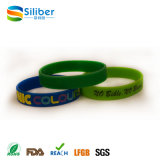 Bracelet fait sur commande bon marché promotionnel de silicones, bracelet de charme de silicones