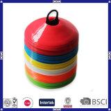 多彩なサッカーのトレーニングディスク円錐形