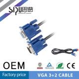 Sipu 3+5 VGA Mannetje aan Vrouwelijke LCD van de Monitor van PC Kabel