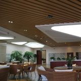 Techo de la tira del deflector de grano de madera de la alta calidad para la decoración interior